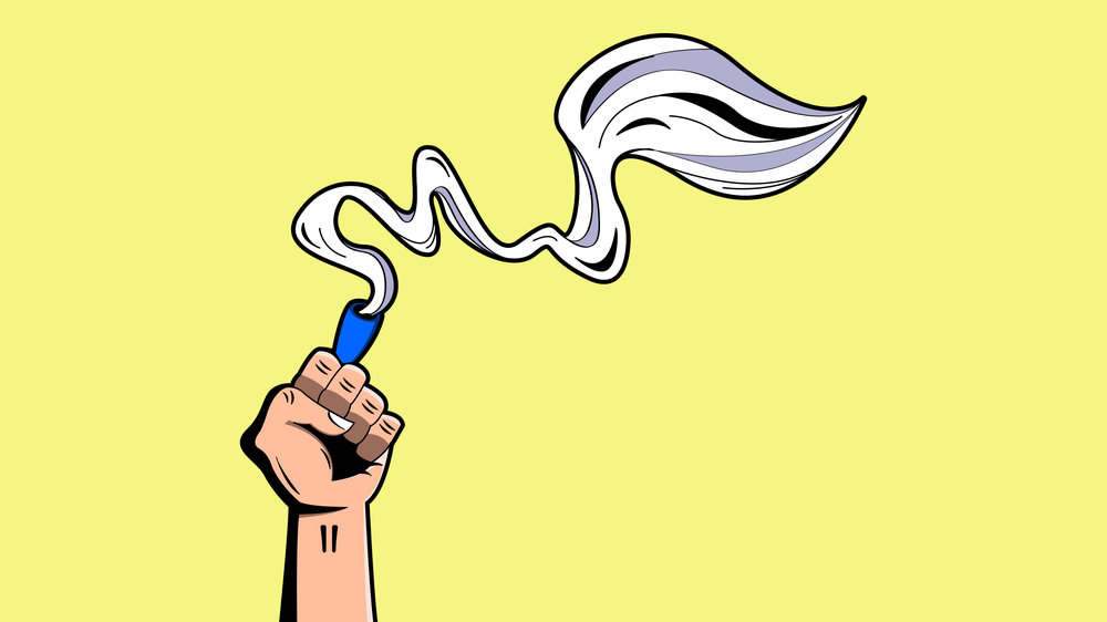 Smoke Zone Fist  Copyright © Afro Boy Productions. All rights reserved. ·  Illustrator