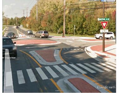Courtesy Transportation Research Board - March 2017 webinar on mini-roundabouts