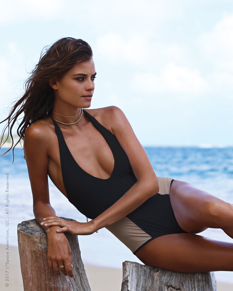 Fire         Side  - Meet our new fave blocked one piece, the Fireside!