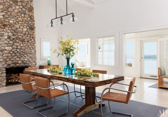 Shelter Island Beach House:  Dining Room