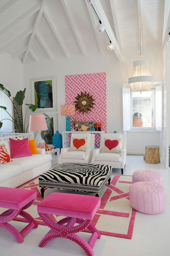 Hot Pink:  Ottomans