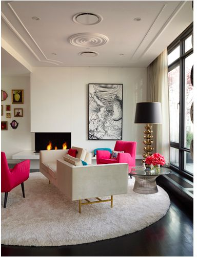Hot Pink:  Living Room