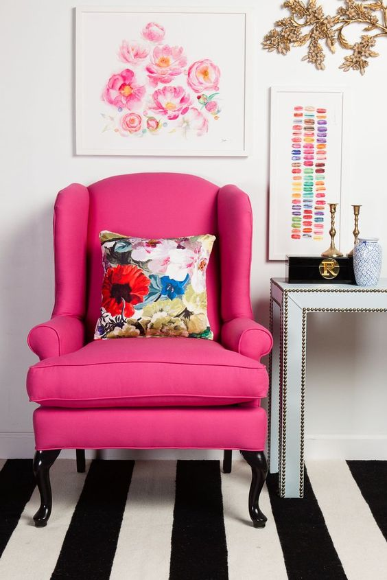 Hot Pink:  Side Chair