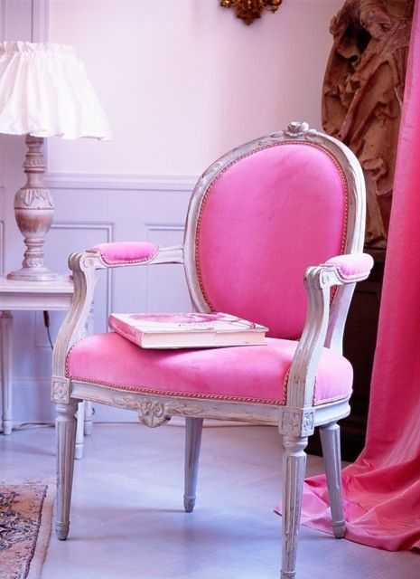Hot Pink:  Victorian Arm Chair