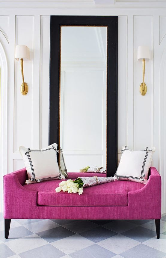 Hot Pink:  Chaise