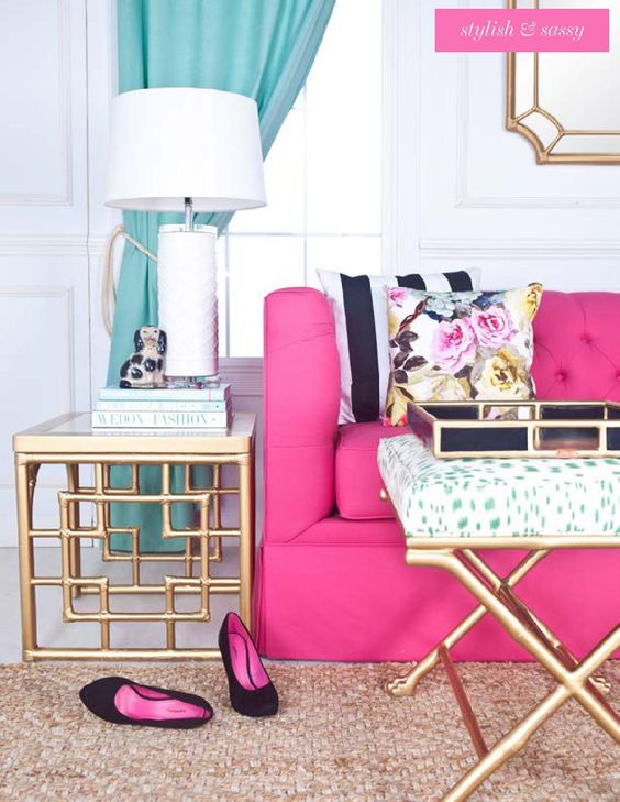Beach Pretty House Style: How to Decorate Your House with Hot Pink