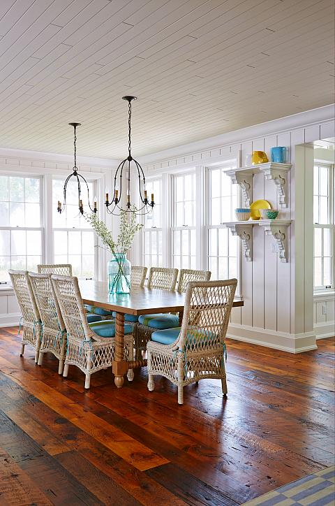 A bright and sunny dining room...