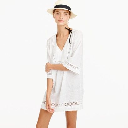 This lightweight linen tunic is ready for a beach vacation when you are. Shop