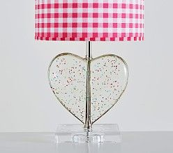 Confetti Heart Base Lamp