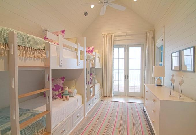 Beach Pretty Girl's Bunk Beds