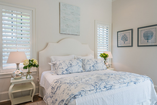 The Master Bedroom is really a suite with a sitting room and built in bar. This is great if your house is filled with guests, you can have your own area to hang out and relax in...privacy in paradise! Similar  White End Tables