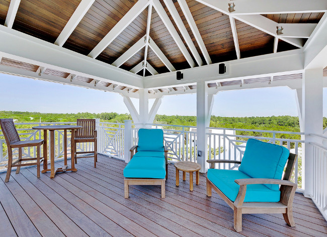 Gorgeous Views on the Upstairs Deck.  Outdoor Deck Furniture