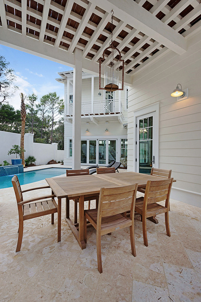 Alfresco Dining in Florida..Teak is so durable and gives a  outdoor table  a contemporary look to your dress your outside dining area.