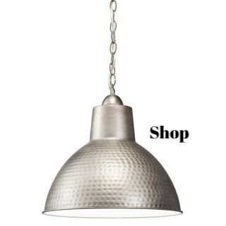 Hammered Silver Pendant Lighting
