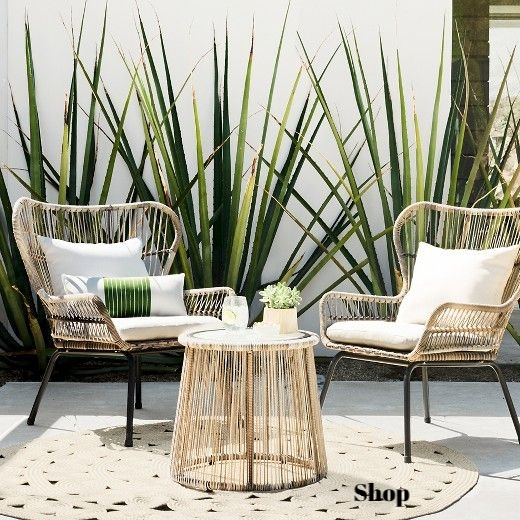 Rattan Chairs and Table