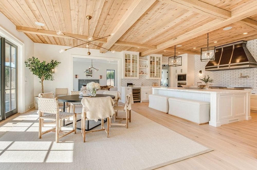 Beach House Tours:  Lovely Beach House Open-Kitchen