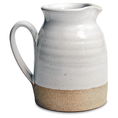 Bell Pitcher-Natural/White
