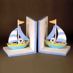 Beach Colored Book Ends
