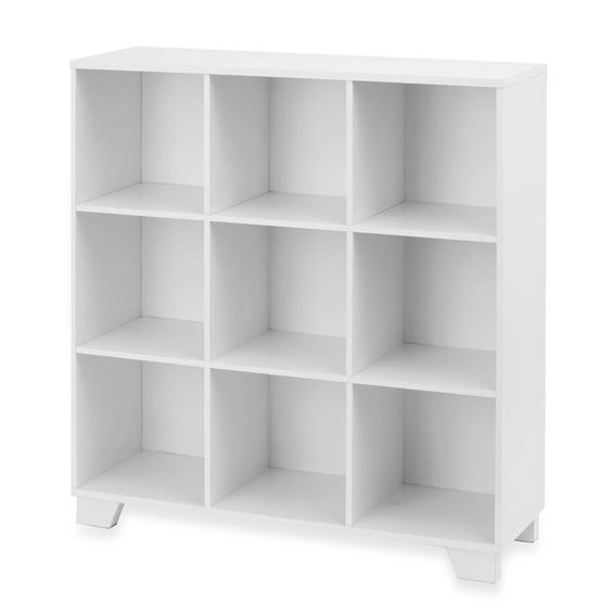 9-Cube Storage Unit in White