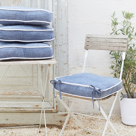 2. - We love the elegant simplicity of our design and the laid-back style of our gorgeous new denim-look fabric, which is especially striking when set against white furniture.  Shop