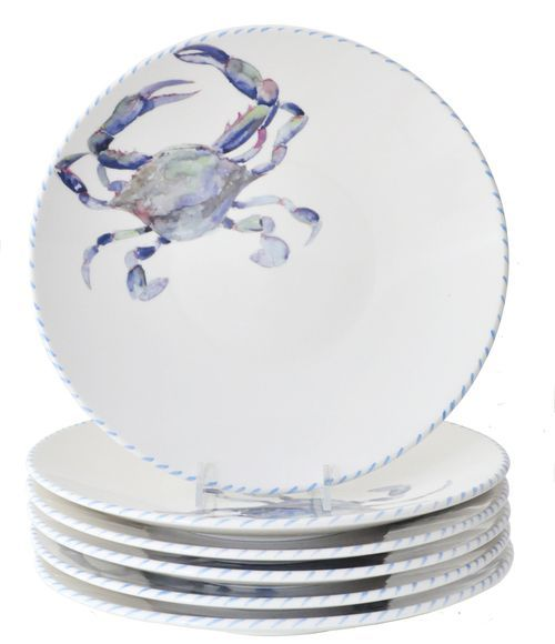 Italian Blue Crab Dinner Plates