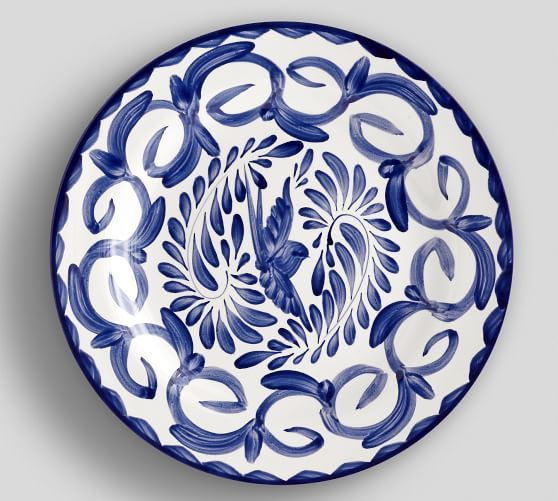 Blue and White Puebla Dinner Plates