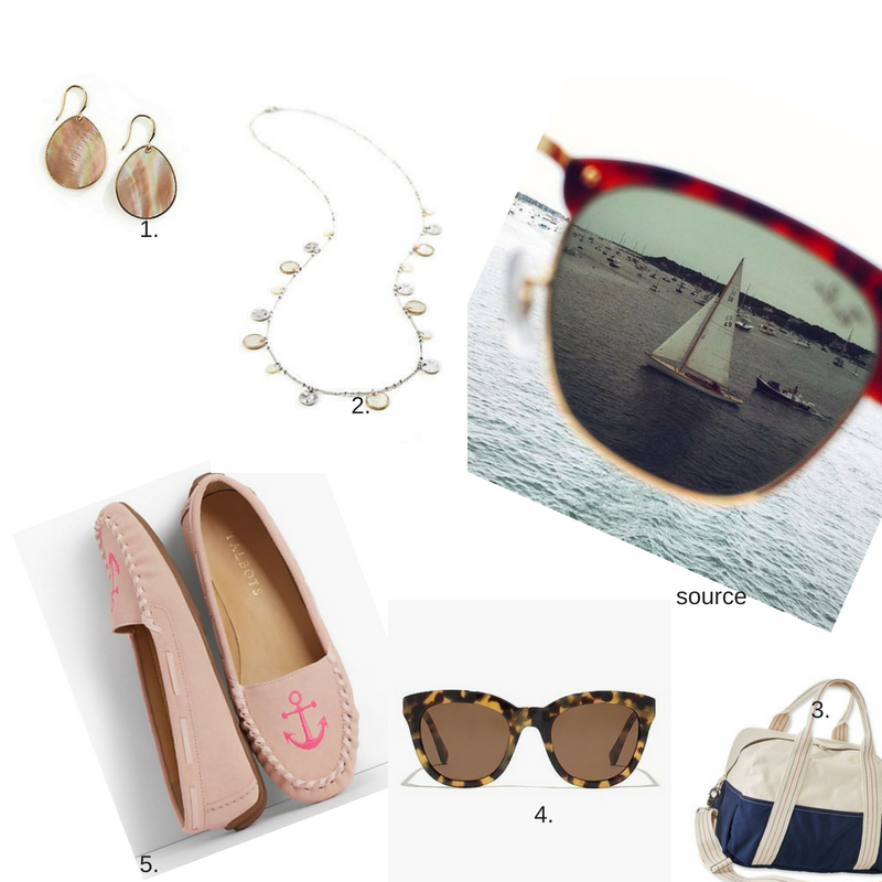 1.  Earrings  2.  Necklace  3.  Overnight Bag  4.  Sunglasses  5.  Shoes  6.  Picture Source