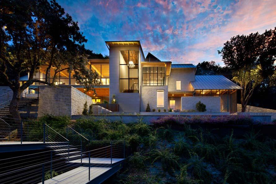 - Lakeside House Overlooking Horseshoe Bay in Austin, TX..