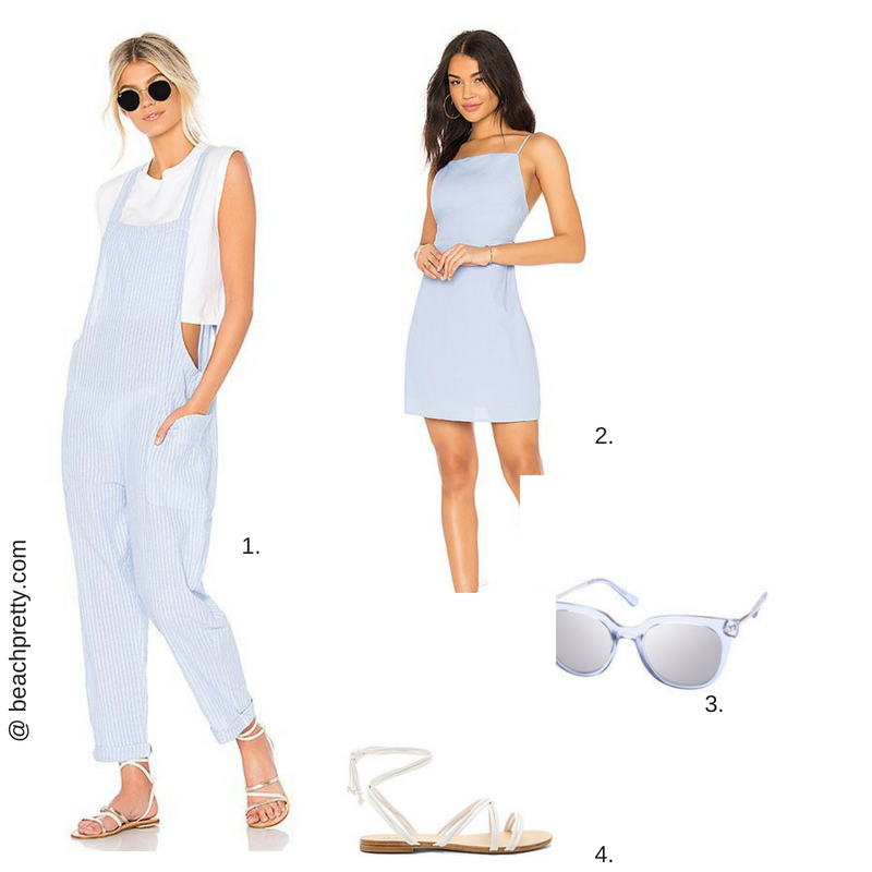 1. Jumper  2.  Dress  3.  Sunglasses  4. Sandals