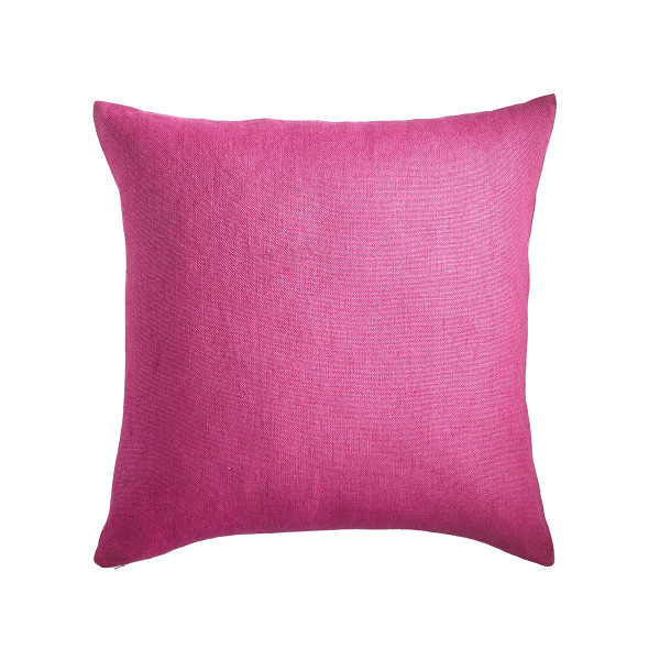 Raspberry Linen Pillow Cover