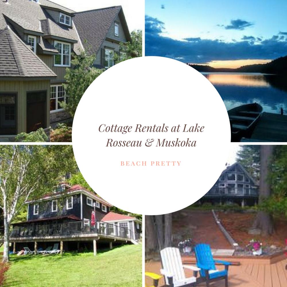 Clockwise from left: 1.  Luxury Villa on Lake Joseph in Muskoka , 2.  Shady Nook Cottage,  3.  Lake Muskoka Cottage  4.  Family Friendly House