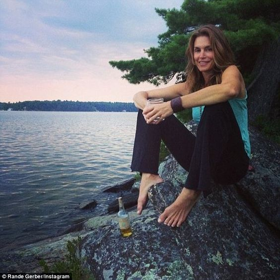 - Cindy Crawford at the Lake