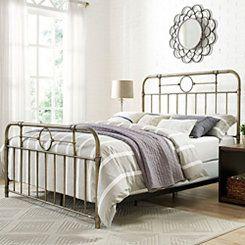 Bronze Metal Pipe Queen Bed