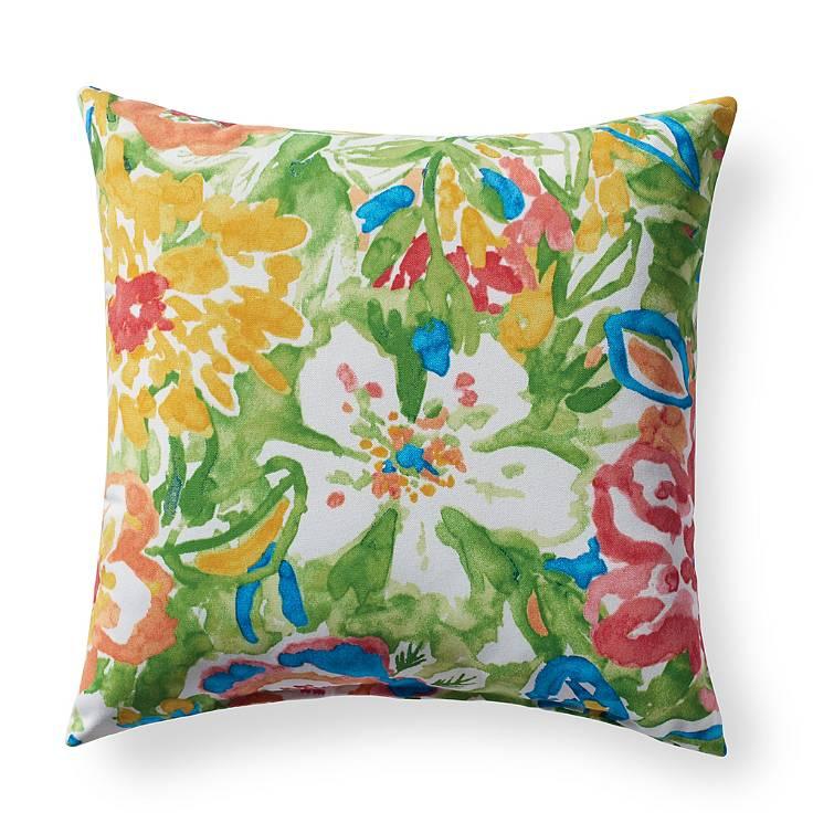 Watercolor Floral Pillow