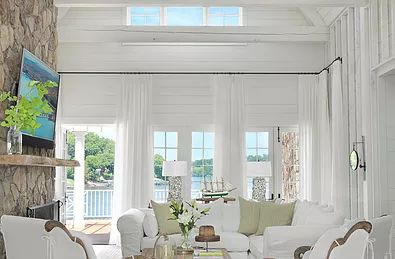 Cottage style-white slip covered furniture…