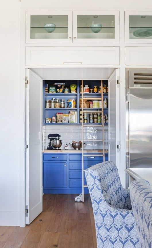 Even the pantry is incredible..I love this shade of blue!