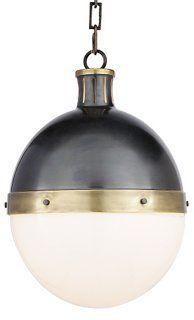 Bronze and Brass Pendant Light