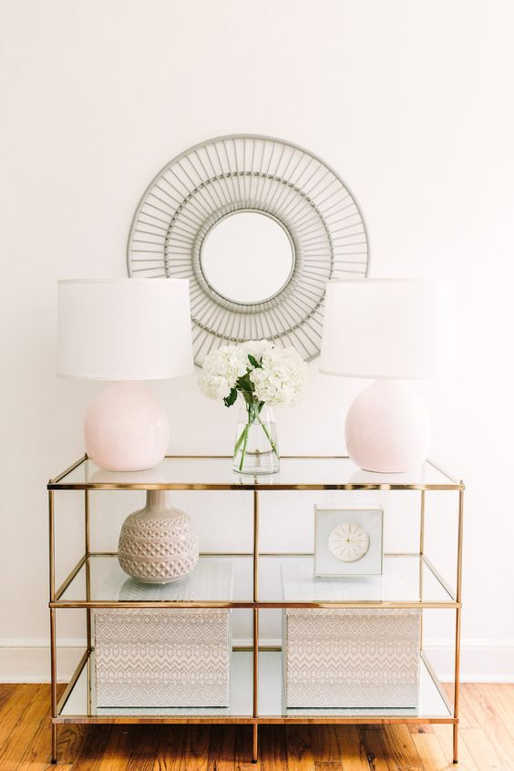 Aesthetically Beautiful Entry Console.  Via