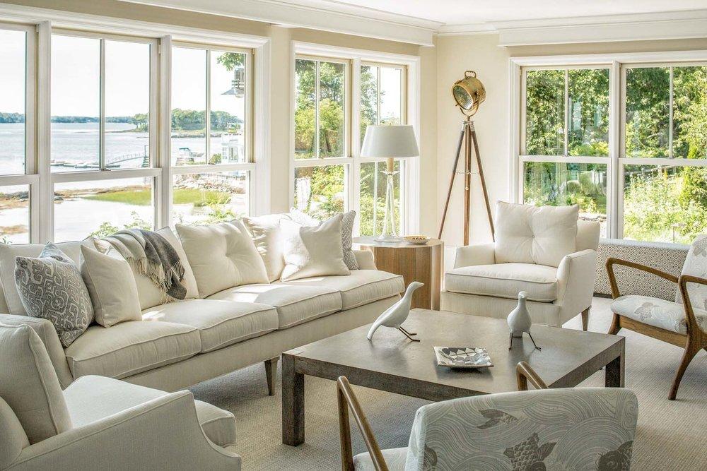 A classically pretty Cape Cod living room.