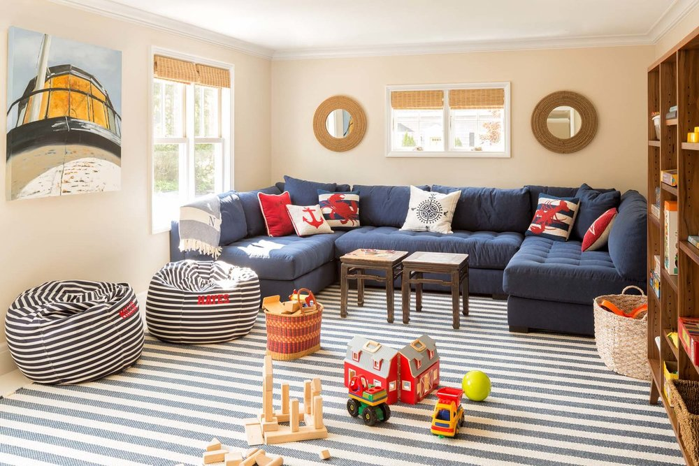A family friendly family room, a must in any beach house.