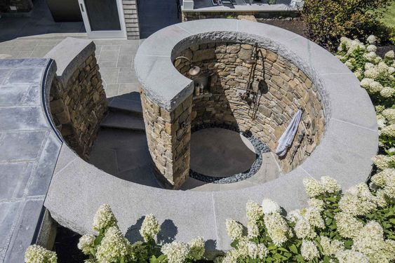 Some of our finest masonry construction work includes walls, terraces, fire pits, outdoor kitchens, walkways and steps, pools, and more.