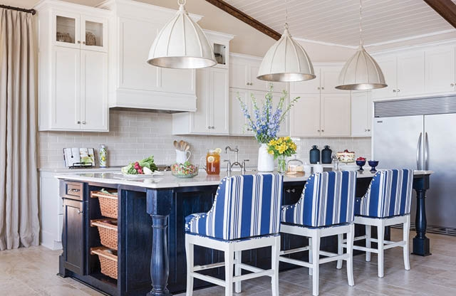 Love the Contemporary Nautical Details in This Lakeside Kitchen.