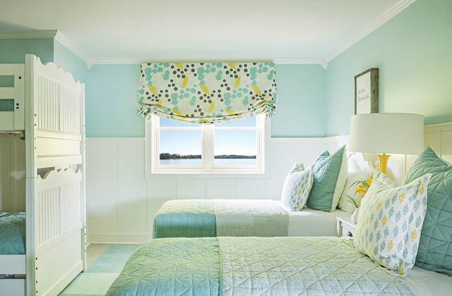 Bright and Dainty Girls Bedroom.