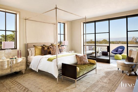 This bedroom suite is so luxurious..A Modern San Francisco Home with an Old-World Aesthetic.  via