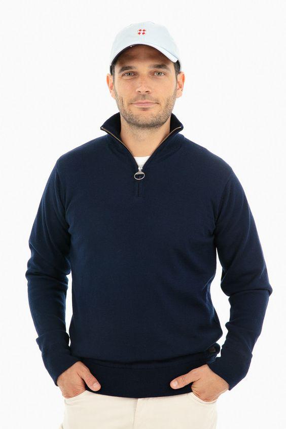 - Half-Zip Sweater