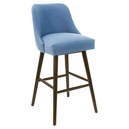 French Blue Bar Stool