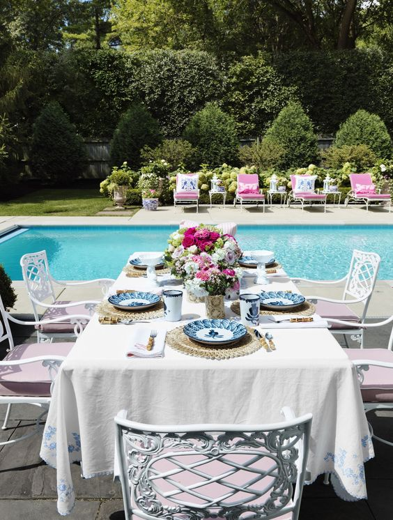 Pink Glamour Pool Side