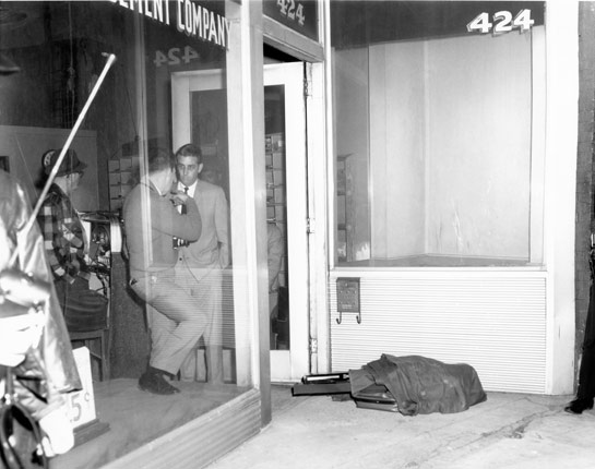 James Earl Ray's bag that he threw away in front of Canipe Amusement Store.