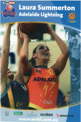 An 05/06 trading card of Hodges (nee Summerton)