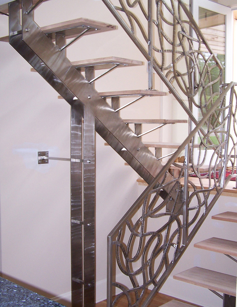stainless steel railing u0026 fireplace u2014 spirit ironworks